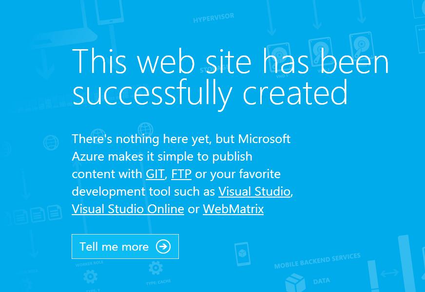 Web Site の初期画面